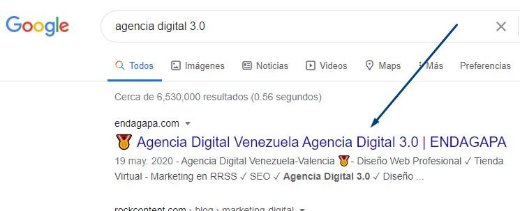 Posicionamiento SEO en Agencia Digital Venezuela
